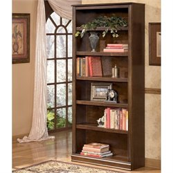 Signature Design by Ashley Furniture Hamlyn 6 Shelf Bookcase in Medium Brown