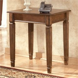 Signature Design by Ashley Furniture Hamlyn Office Corner Table in Medium Brown