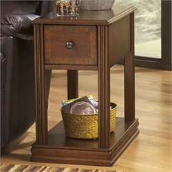 Ashley Furniture Breegin 1 Drawer End Table in Cherry