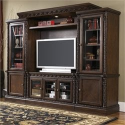 Signature Design by Ashley Furniture North Shore Entertainment Center in Brown