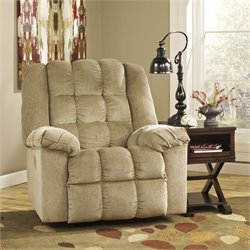 Signature Design by Ashley Furniture Ludden Power Rocker Recliner in Sand