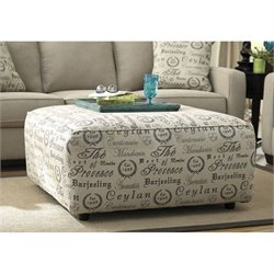 Signature Design by Ashley Furniture Alenya Oversized Accent Ottoman in Quartz