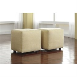 Ashley Furniture Chamberly Cube Ottoman in Buttercup