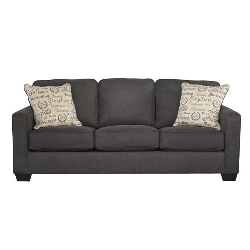 Ashley Furniture Alenya Microfiber Sofa In Charcoal