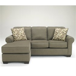 Ashley Furniture Danely 2 Piece Fabric Sectional in Dusk
