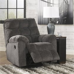 Ashley Furniture Acieona Swivel Rocker Recliner in Slate