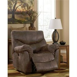 Ashley Furniture Alzena Power Rocker Recliner in Gunsmoke