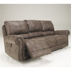 Ashley Furniture Oberson Reclining Sofa in Gunsmoke