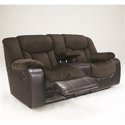 Tafton Faux Leather Reclining Loveseat