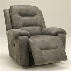Ashley Furniture Rotation Power Rocker Recliner in Smoke