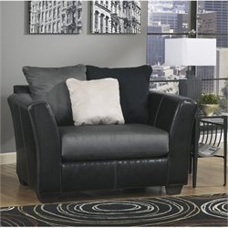 Ashley Masoli Leather Accent Chair And A Half