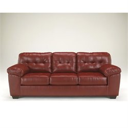 Ashley Furniture Alliston DuraBlend Leather Sofa in Salsa