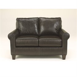 Ashley Furniture Nastas DuraBlend Leather Loveseat in Bark