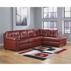 Ashley Furniture Alliston 2 Piece Right Corner Sectional in Salsa