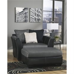 Signature Design by Ashley Furniture Masoli Accent Chair with Ottoman in Cobblestone
