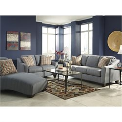 Signature Design by Ashley Furniture Hannin 3 Piece Sofa Chaise Set in Lagoon