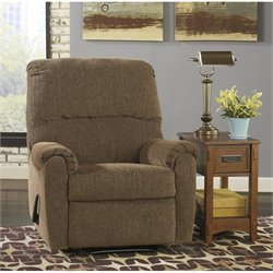 Ashley Pranit Chenille Zero Wall Recliner in Walnut