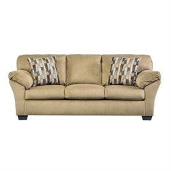 Ashley Aluria Fabric Queen Size Sleeper Sofa in Mocha