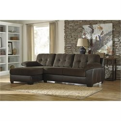 Ashley Vanleer Corner Sectional in Chocolate