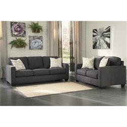 Ashley Alenya 2 Piece Sofa Set in Charcoal