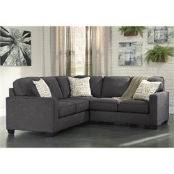 Ashley Alenya Corner Sectional in Charcoal