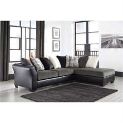 Armant Chaise Sectional in Ebony