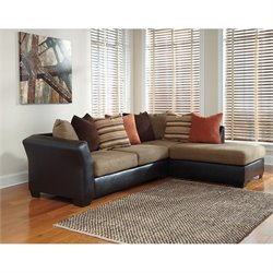 Armant Chaise Sectional in Mocha
