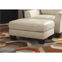 Ashley Paulie Leather Ottoman
