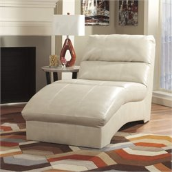 Ashley Paulie Leather Chaise Lounge