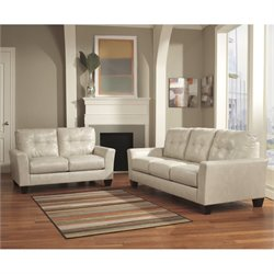 Ashley Paulie 2 Piece Leather Sofa Set