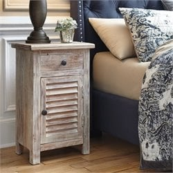 Charlowe 1 Door Wood Nightstand