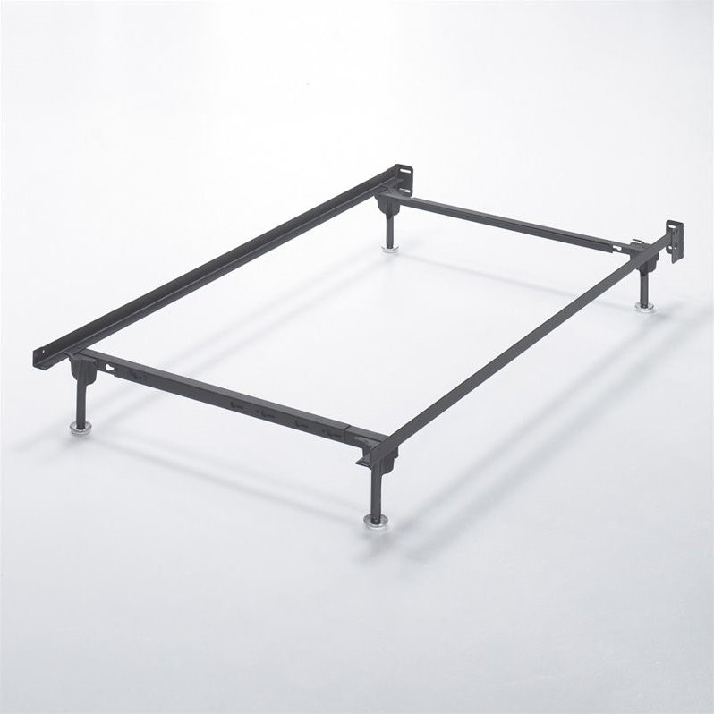 Ashley twin metal bed frame in black b100 21 Metal bed frame twin