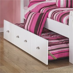Ashley Exquisite Twin Panel Trundle in White