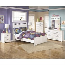Ashley Lulu Wood Full Panel Bedroom Set in White
