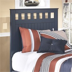 Leo Wood Panel Headboard in Blue