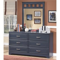 Ashley Leo 2 Piece Wood Dresser Set in Blue
