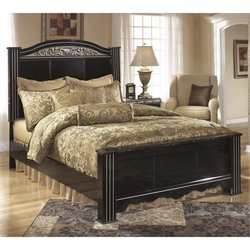 Ashley Constellations Wood Poster Panel Bed in Black