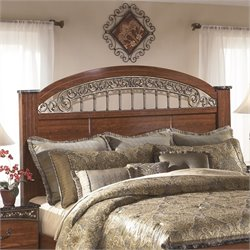 Fairbrooks Estates Poster Panel Headboard in Brown