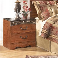 Ashley Fairbrooks Estates 2 Drawer Wood Nightstand in Brown