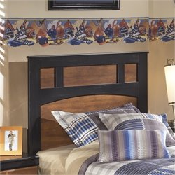 Aimwell Wood Panel Headboard in Brown