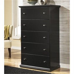 Ashley Maribel 5 Drawer Wood Chest in Black