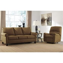 Ashley Zeth 2 Piece Fabric Full Size Sleeper Sofa Set
