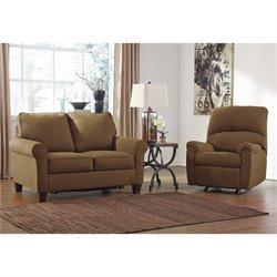 Ashley Zeth 2 Piece Fabric Twin Size Sleeper Sofa Set