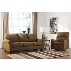 Ashley Zeth 2 Piece Fabric Queen Size Sleeper Sofa Set