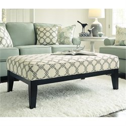 Ashley Daystar Fabric Oversized Accent Ottoman in Seafoam