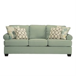 Ashley Daystar Fabric Queen Size Sleeper Sofa in Seafoam
