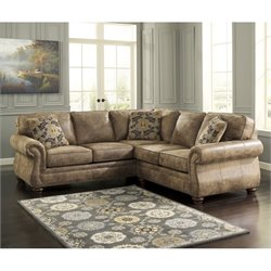 Ashley Larkinhurst 2 Piece Sectional in Earth