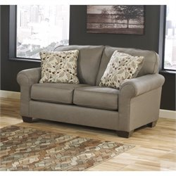 Ashley Danely Fabric Loveseat in Dusk