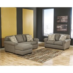 Ashley Danely 2 Piece Chaise Sofa Set in Dusk