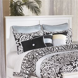 Bostwick Shoals Wood Panel Headboard in White